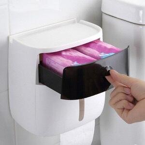 Image 3 - LEDFRE פלסטיק נייר טואלט רקמות מחזיק רחצה כפול קיר רכוב מדף אחסון Dispenser ארגונית אביזרי LF82003