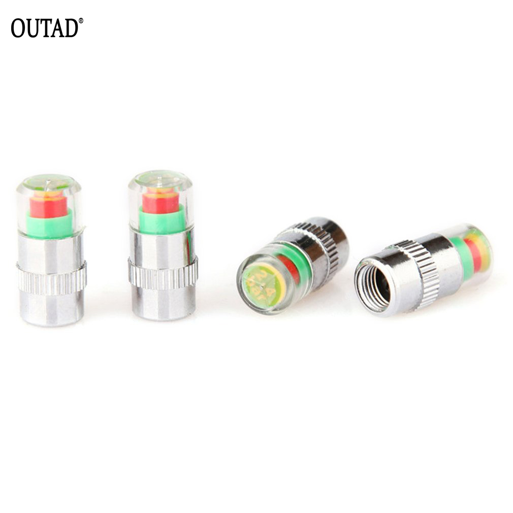 OUTAD 4Pcs/Lot Car Tire Valve Caps Pressure Sensor Monitor Light Cap Universal For Car Tyre Meter Accessories Dropshipping