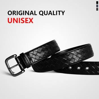 Cowhide Genuine Leather Belt Men Fashion Alloy Buckle Belts For Male Business Luxury Strap Male Belts 2020 Top Classic