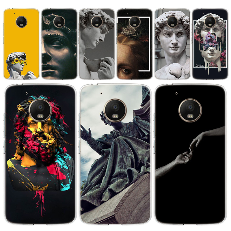 Statue Art Pattern Phone Case For Motorola MOTO G8 G7 G6 G5 G5S G4 E6 E5 E4 Plus Play Power One Action Soft Silicone TPU Cover