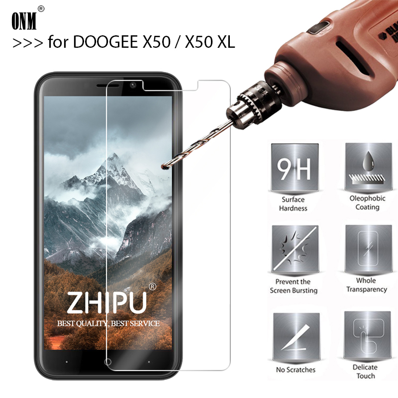 25 Pcs Tempered Glass for DOOGEE X50 XL Screen Protector Phone Protective