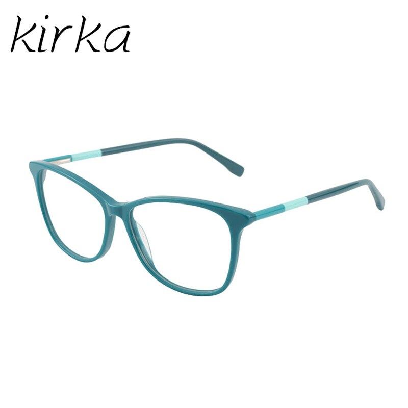 Kirka óculos frame feminino vintage senhora óculos quadro lente clara óculos de leitura óculos ópticos armação de prescrição feminino-in Armações de óculos from Acessórios da Moda on AliExpress
