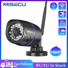 MISECU 1080P واي فاي كاميرا IP بطاقة SD الصوت اللاسلكية في الهواء الطلق مقاوم للماء كاميرا الأمن 2MP ONVIF P2P للرؤية الليلية محول مجاني