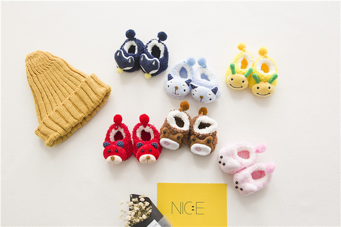 Baby Socks Rubber Anti Slip Floor Cartoon Kids Toddlers Autumn Spring Fashion Animal Newborn Cute 0-6-18month