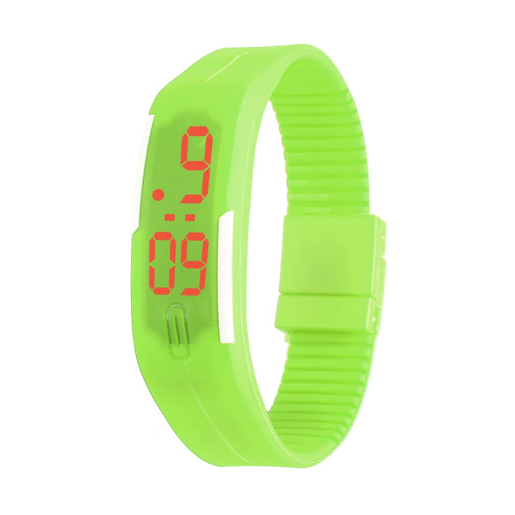 Kids LED Date Children Digital Outdoor Sports Clock Watch Silicone Wristwatch For Boy Girls Health Sleep Watchband