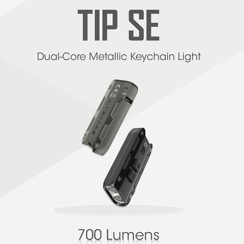 NItecore pointe SE 700 Lumens 2 x OSRAM P8 LED avec batterie Li-ion Rechargeable double coeur métallique porte-clés lumière