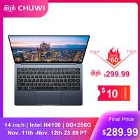 CHUWI LapBook Pro 14 Inch Narrow Bezel FHD Screen Laptop Windows10 Quad Core intel Gemini Lake N4100 8GB RAM 256GB SSD Notebook