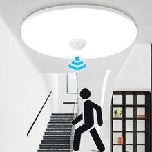 Led gece işığı lambası hareket sensörlü ışık PIR ampul 12W 18W LED tavan lambası merdiven koridor ev için merdiven çocuk Nightlight