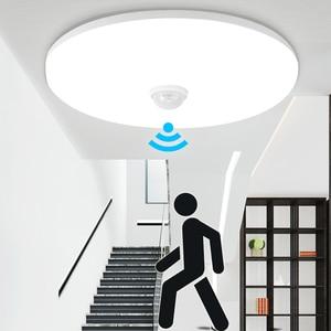 Image 1 - Led gece işığı lambası hareket sensörlü ışık PIR ampul 12W 18W LED tavan lambası merdiven koridor ev için merdiven çocuk Nightlight