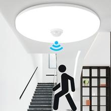 Ledナイトライトモーションセンサーライトpir電球12ワット18ワットledシーリングランプ階段廊下のためのホーム階段子供常夜灯
