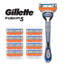 Removable Razor Blades for Men Gillette Fusion Holder with 9 Replaceable Cassettes Shaving Fusion Shaving Cartridge Fusion