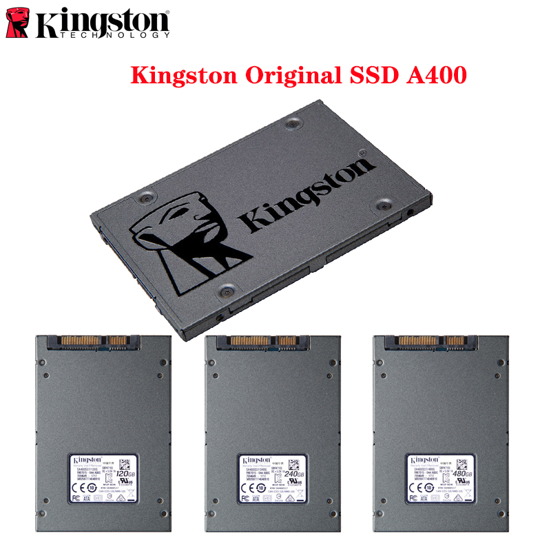 Kingston Original <font><b>SSD</b></font> A400 120GB 240GB 480GB 960GB Internal Solid State Drive <font><b>2.5</b></font> <font><b>2.5</b></font> inch <font><b>SATA</b></font> <font><b>III</b></font> HDD Hard Disk for Computer image