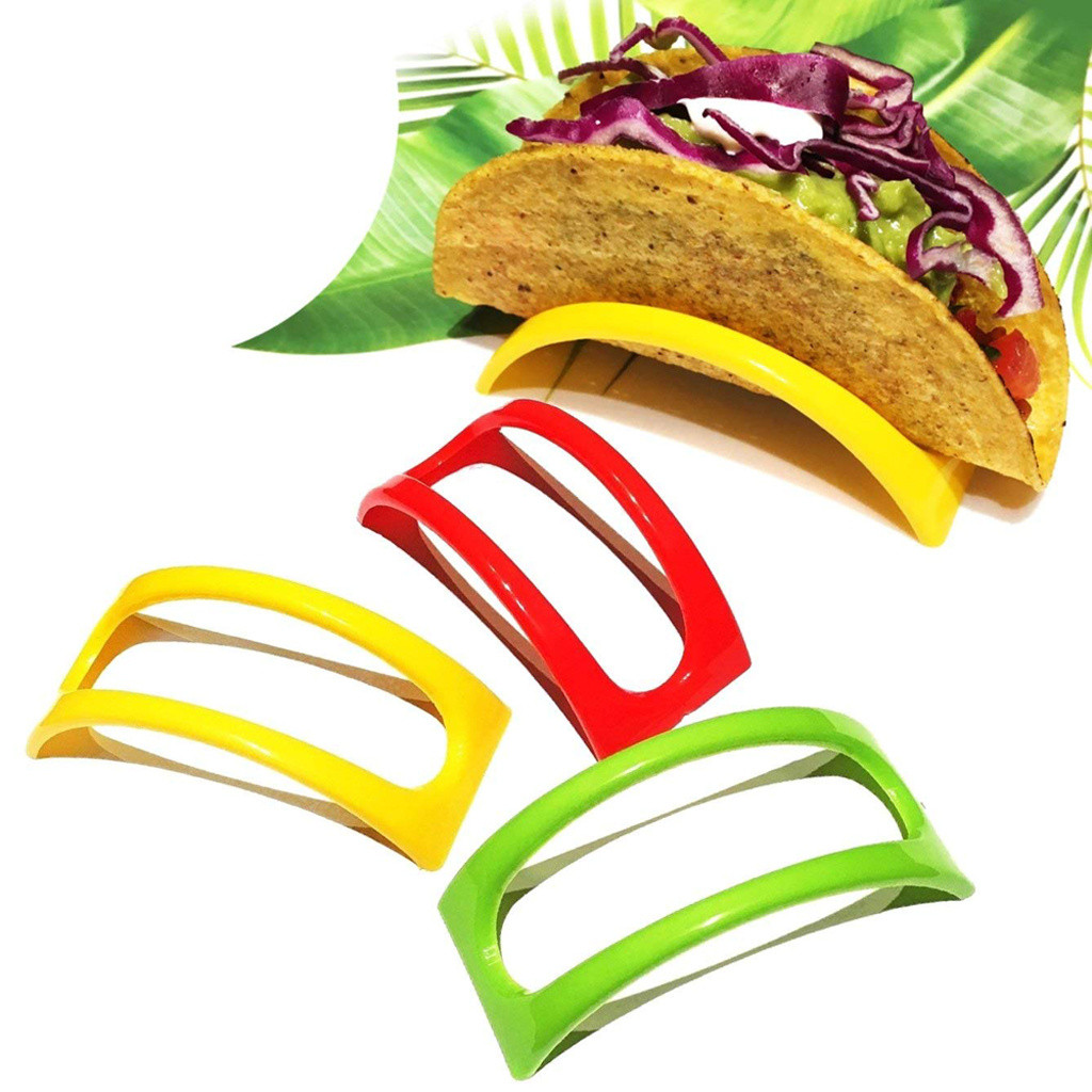 12 PCS Tortilla Roll Stand Colorful Taco Shell Plastic Holder Sandwich Bread Display Stand Plate Food Holder Cosas De Cocina#25 image