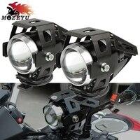 Universal Motorcycle 125W LED Headlight 3000LMW chip U5  Motor Head Light Lamp For SUZUKI B King Bandit GSF 600 650 1200 1250   -