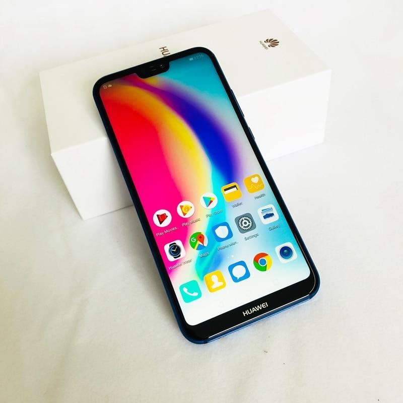 """Estoque! huawei P20 Lite Firmware Global NOVA 3E 4G LTE Telefone Celular Android 8.0 5.85 """"2280X1080 4GB RAM 128GB ROM Face ID 24.0MP FM"""