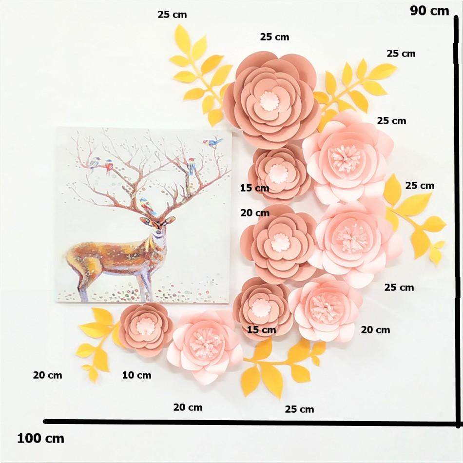 DIY Paper Flowers Flower Wall Decor Living Room Backdrop Color Themed Home Decoration Trending Fashion Floral Decor Drop Ship