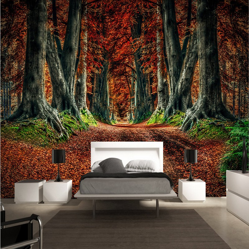 Dropship 3D Custom Photo Wallpaper High Definition Mangrove Forest Landscape Decoration Background Bedroom TV Wallpaper Murals