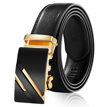 Mens Business Style Belt Designer Leather Strap Male Automatic Buckle Belts For Men Top Quality Girdle Jeans