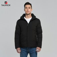 2019 Men Winter Jacket Thick Cotton Padded Jacket Winter Coat Men Parka Detachable Hood Warm Jackets Russian Size Knit Cuffs