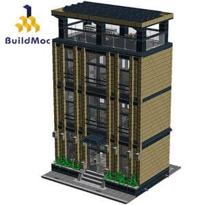 Buildmoc City Architecture Modular Building Blocks Friends Corporate Headquarters Modern City House Model Toys for children