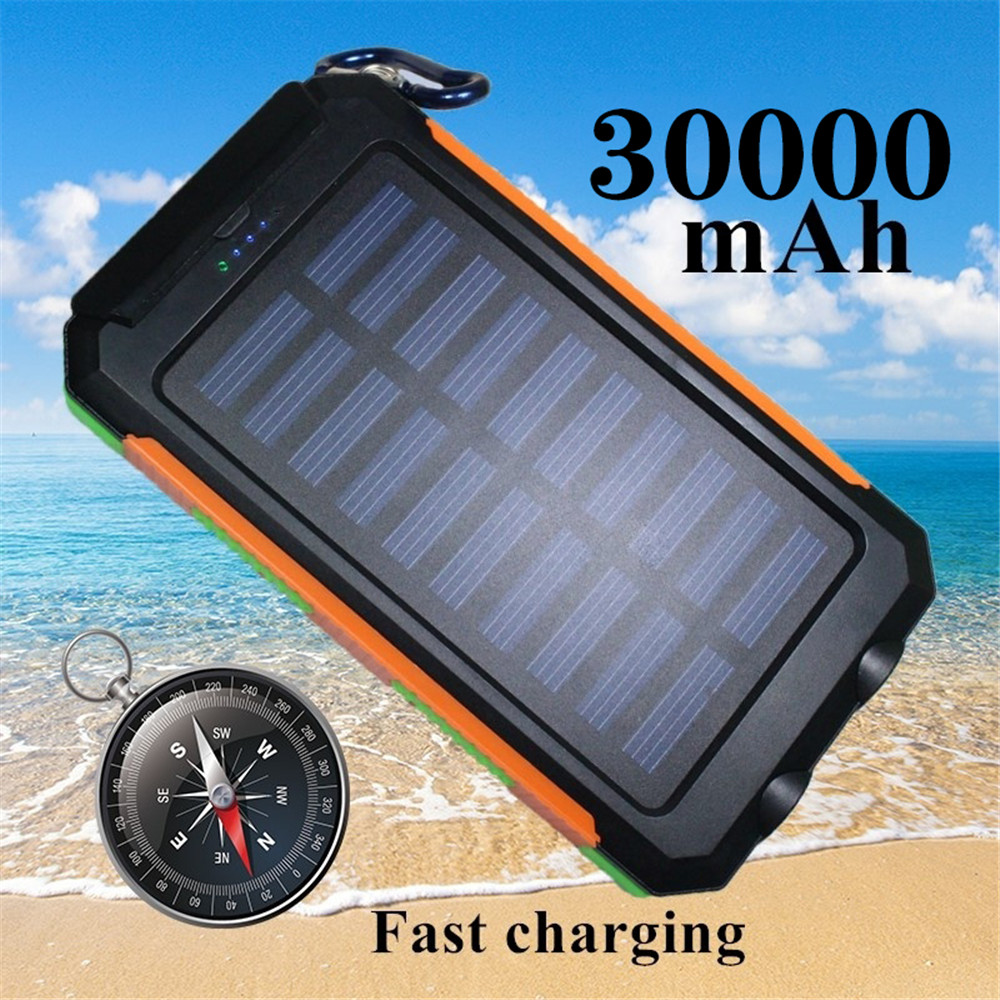 Solor Power Bank 30000mAh Powerbank External Battery Portable Fast Charger  for All Smartphone Charger Bank Waterproof|Power Bank| |  - title=