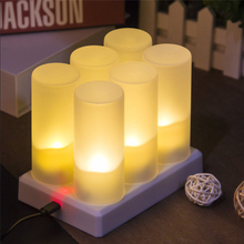 Flameless Candles Battery-Powered Flickering Wedding Home Led Party New-Year