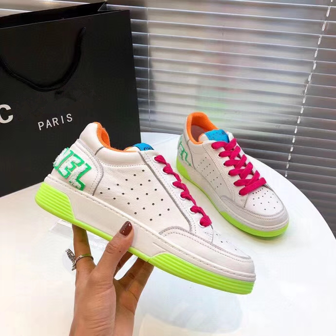 2020 New Women Shoes Hottest High Quality Colorful Lace Double Color TPU  Double Sole  Casual Shoes 35-45