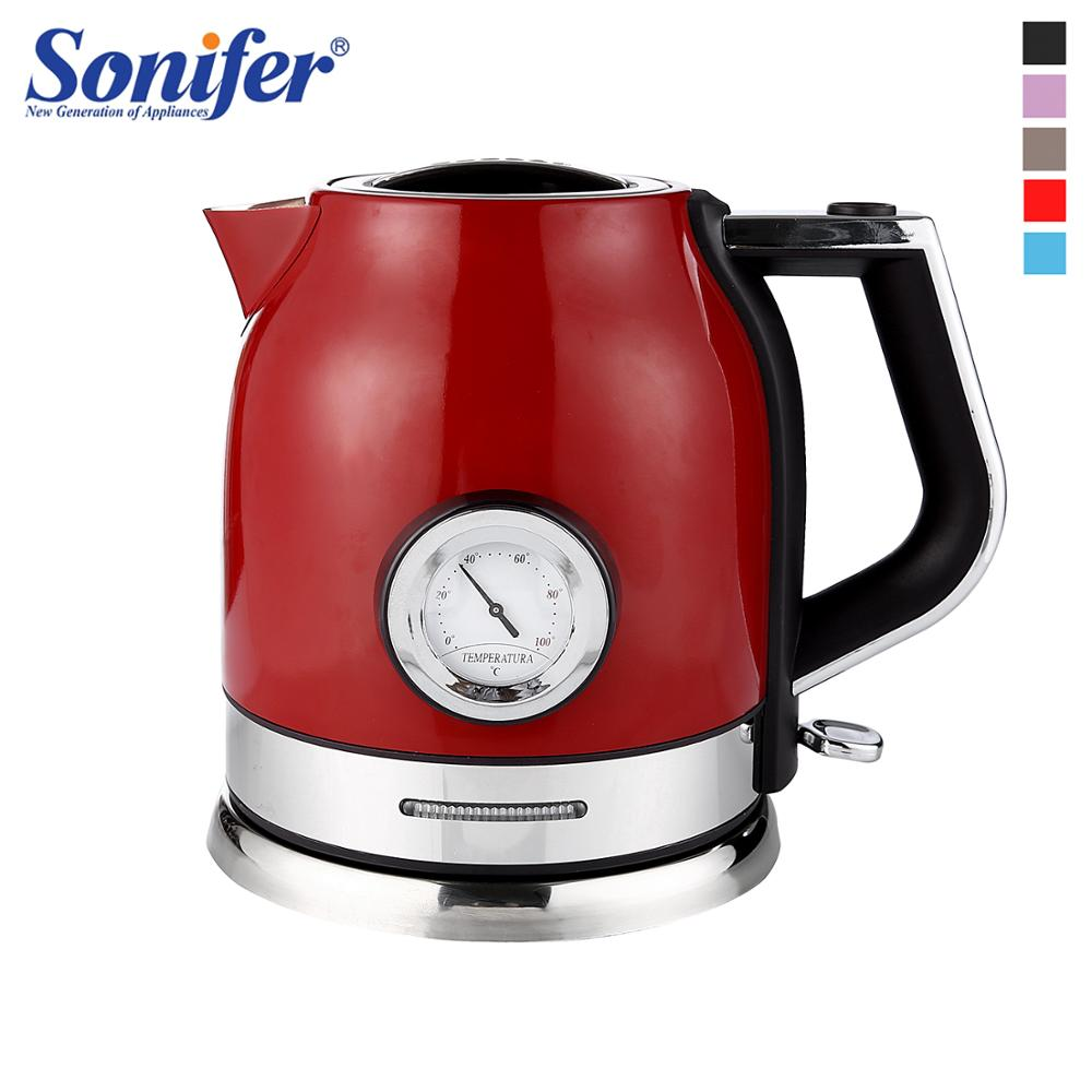 1.8L Stainless Steel Electric Kettle Household With Water Temperature Control Meter Quick Heating Boiling Tea Pot 220V Sonifer