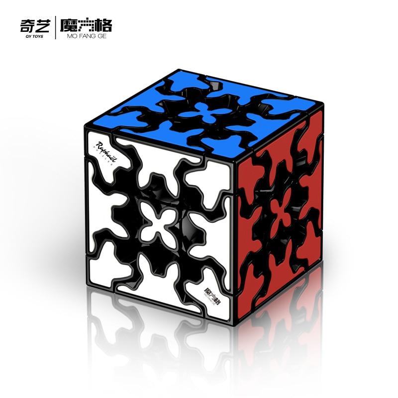 QiYi Gear Cylinder Mofangge Speed Magic Cube Puzzle Toy Black