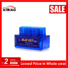 1 pçs super mini elm327 bluetooth obd2 v2.1 elm 327 v 2.1 obd 2 ferramenta de diagnóstico do carro scanner leitor(China)