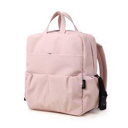 Большой Вместительный рюкзак для подгузников для новорожденных, водонепроницаемая розовая милая сумка для подгузников для мам, сумка для п...