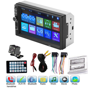 7018B 2 Car Multimedia Audio Player Stereo Radio Touch Screen HD MP5 Player Support Bluetooth Camera Car Multimedia Player