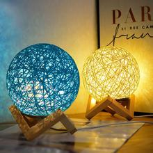 LED Ball Style Night Lamp With USB Charging Sepak Takraw Light For Home Room Bedroom Decoration все цены