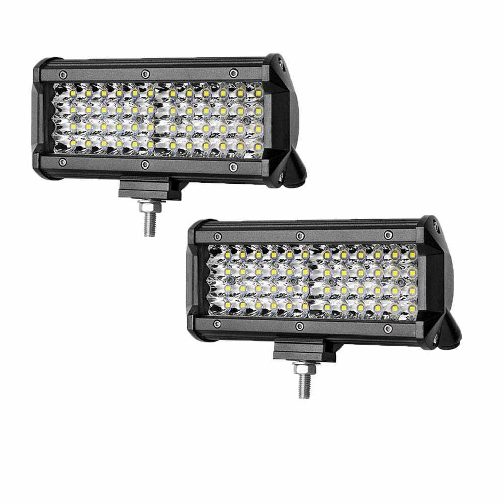 LED مصباح LED للطرق الوعرة قضيب مصابيح عملي 4/7/20 بوصة جميع بقعة الضباب LED القيادة الخفيفة ل 4WD قارب جرار شاحنة 4x4 SUV ATV 12 فولت عمود إضاءة LED