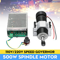 110 220V 500W Spindle Motor With Speed Governor 52mm Clamp For CNC Machine