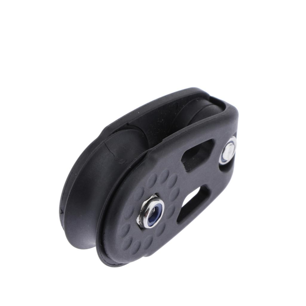 MagiDeal Marine Kayak Canoe Pulley Block Sheave For Canoe Anchor Trolley