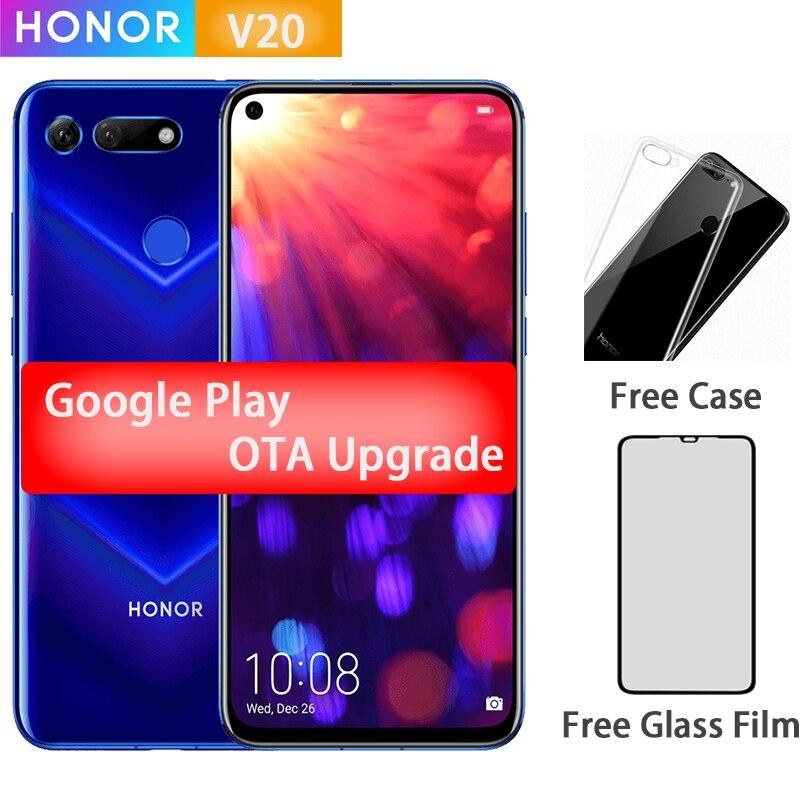 Honor V20 View 20 Smartphone 6.4 Inch Full Screen 2310x1080 Kirin 980 Octa Core 4000mAh Multiple Languages Cell Phone