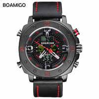 BOAMIGO, relojes de moda para Hombre, Reloj de cuarzo informal para negocios, cronógrafo militar para Hombre, Reloj de pulsera digital deportivo para Hombre