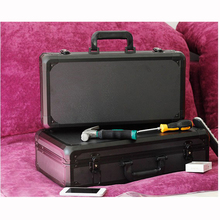 Aluminum Tool case suitcase toolbox File box Impact resistant safety case equipment camera case with pre-cut foam lining sq6108 portable tool suitcase with full precut foam