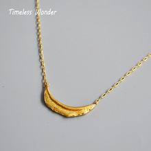 Timeless Wonder Brass Crescent Moon Choker Necklace Fashion Jewelry Punk Gothic Top Ins Women Pendant Gold Chain 2899