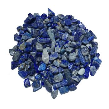 A + 100g 5-7mm naturalny niebieski lapis Lazuli kwarcowy polerowany kryształ żwir okaz kamienie naturalne i minerały do akwarium kamienie tanie i dobre opinie STONE BROTHERS CN (pochodzenie) Miłość FENG SHUI CHINA Organiczny materiał