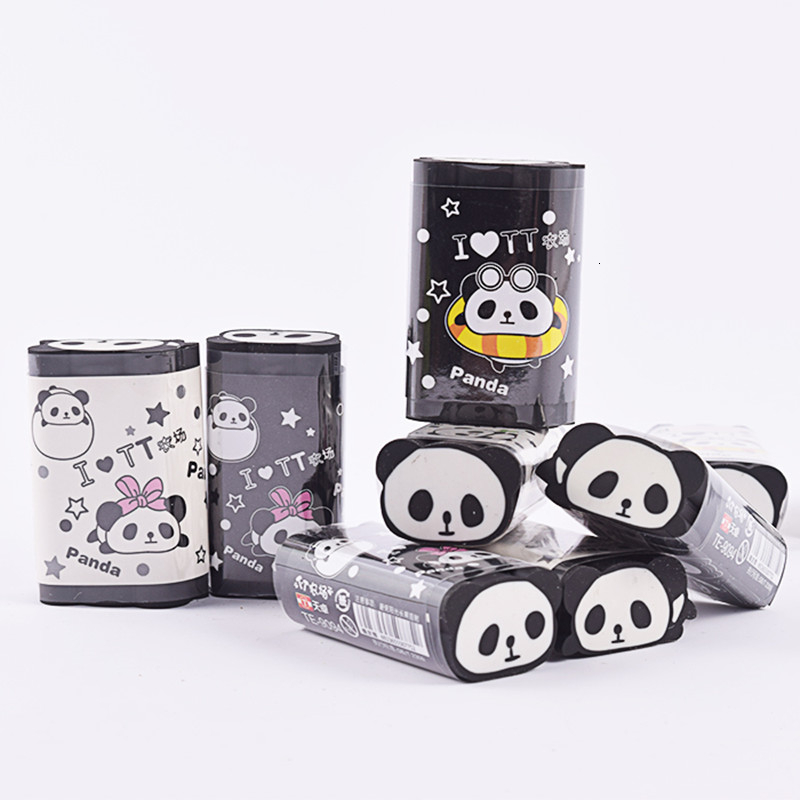 1 Pcs Cute Kawaii Animal Eraser Panda Design Big Rubber School Supplies Creative Korean Stationery Can Be Cut Gift 00638