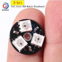 RGB светодиодный кольцевой 3 бита светодиодный WS2812 5050 RGB светодиодный кольцевой светильник со встроенными драйверами для Arduino светодиодный светильник s