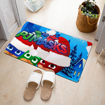 PJ MASKS 3D Carpet Entrance Floor Mat Soft Living Room Bathroom Children's Room Carpets Absorbent Anti-slip Foot Pad 2S58
