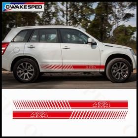 For-Suzuki-Grand-Vitara-AT-MT-4X4-OFF-ROAD-Stripes-Decal-Car-Body-Door-Side-Decor_副本