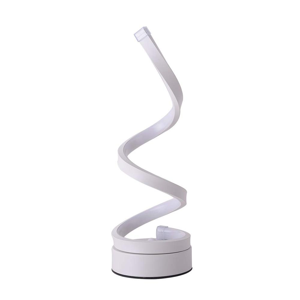 2019 Newest LED Spiral Table Lamp,Modern Curved Desk Bedside Lamp,Dimmable Warm White Light for Living Room and Bedroom