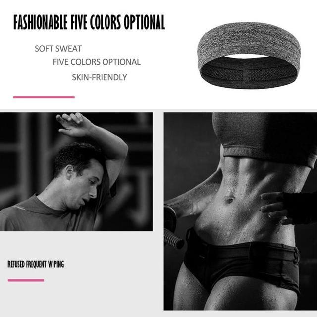 Fitness yoga hair bands jogging running sports sweat-absorbent belt silicone non-slip antiperspirant headband sports scarf belts 4