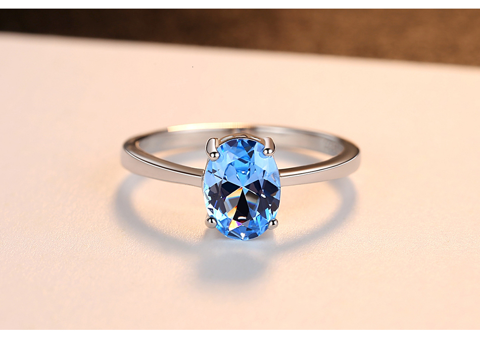 H3447d4d56bdc425eab14bab3d6ab84ccU CZCITY Natural Solitaire Sky Blue Oval Topaz Stone Sterling Silver Ring For Women Fashion S925 Fine Jewelry Finger Band Rings