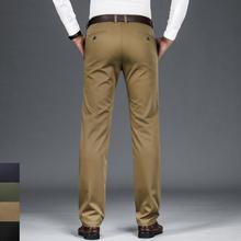 NIGRITY 2020 Autumn Brand New Mens Casual Pant Stretch Elastic Fabric Classic Office Pant Business Trouser Plus Big Size 28 42