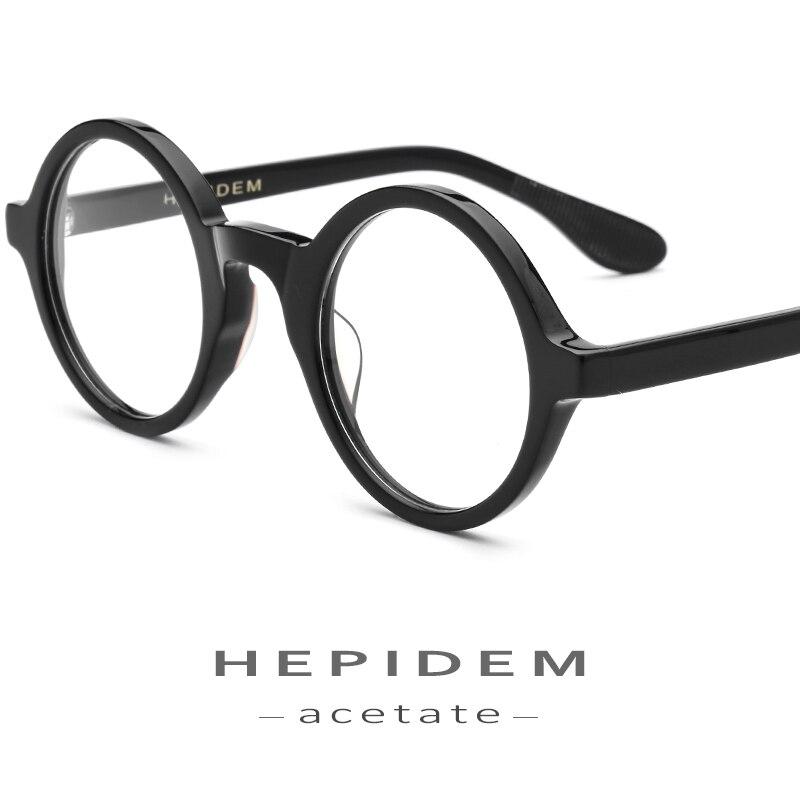 Acetate Optical Glasses Frame Men Full Retro Vintage Round Circle Prescription Eyeglasses Nerd Women Spectacles Myopia Eyewear
